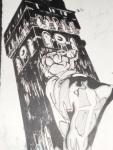 Pencil black pen illustration
