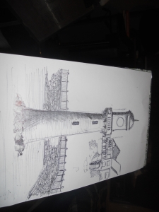 Original Pen'd Image, Raoth Park Lake. Cardiff.