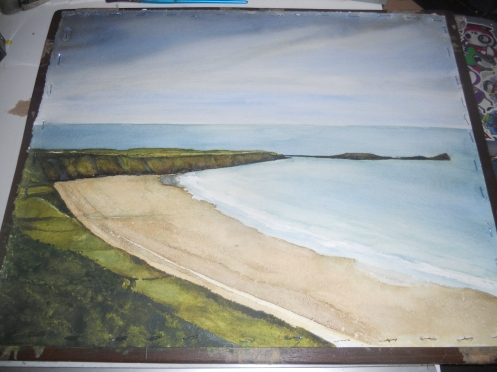 Commission, Worms Head. The Gower coastline.